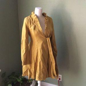 Mustard trench coat
